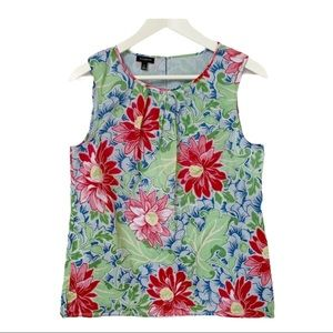 TALBOTS floral / Hawaiian sleeveless blouse /shell